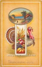 hol061752 - Thanksgiving Old Vintage Antique Postcard Post Card