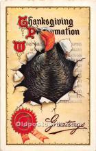 hol061755 - Thanksgiving Old Vintage Antique Postcard Post Card