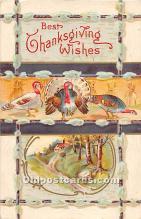 hol061756 - Thanksgiving Old Vintage Antique Postcard Post Card