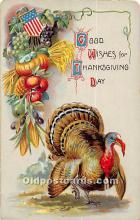 hol061760 - Thanksgiving Old Vintage Antique Postcard Post Card