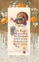 hol061761 - Thanksgiving Old Vintage Antique Postcard Post Card