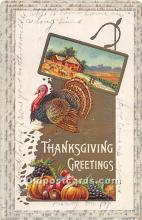 hol061763 - Thanksgiving Old Vintage Antique Postcard Post Card
