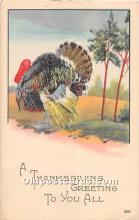 hol061772 - Thanksgiving Old Vintage Antique Postcard Post Card