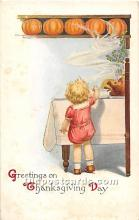hol061781 - Thanksgiving Old Vintage Antique Postcard Post Card
