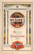 hol061783 - Thanksgiving Old Vintage Antique Postcard Post Card