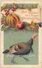 hol061784 - Thanksgiving Old Vintage Antique Postcard Post Card