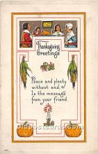 hol061785 - Thanksgiving Old Vintage Antique Postcard Post Card