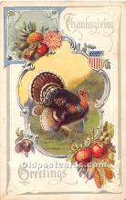 hol061786 - Thanksgiving Old Vintage Antique Postcard Post Card