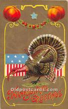 hol061787 - Thanksgiving Old Vintage Antique Postcard Post Card