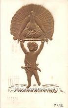 hol061788 - Thanksgiving Old Vintage Antique Postcard Post Card