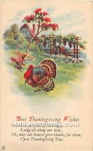 hol061789 - Thanksgiving Old Vintage Antique Postcard Post Card