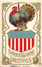 hol061790 - Thanksgiving Old Vintage Antique Postcard Post Card