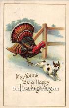 hol061801 - Thanksgiving Old Vintage Antique Postcard Post Card