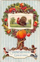 hol061818 - Thanksgiving Old Vintage Antique Postcard Post Card