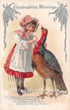 hol061822 - Thanksgiving Old Vintage Antique Postcard Post Card