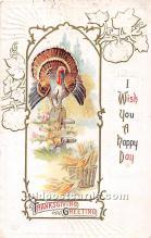 hol061826 - Thanksgiving Old Vintage Antique Postcard Post Card