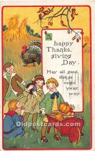 hol061827 - Thanksgiving Old Vintage Antique Postcard Post Card