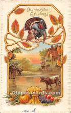 hol061828 - Thanksgiving Old Vintage Antique Postcard Post Card