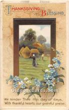 hol061838 - Thanksgiving Old Vintage Antique Postcard Post Card