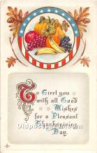 hol061839 - Thanksgiving Old Vintage Antique Postcard Post Card