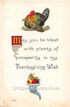 hol061840 - Thanksgiving Old Vintage Antique Postcard Post Card