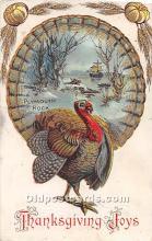 hol061843 - Thanksgiving Old Vintage Antique Postcard Post Card