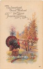 hol061846 - Thanksgiving Old Vintage Antique Postcard Post Card