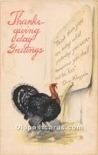 hol061849 - Thanksgiving Old Vintage Antique Postcard Post Card