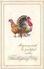 hol061850 - Thanksgiving Old Vintage Antique Postcard Post Card