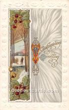 hol061851 - Thanksgiving Old Vintage Antique Postcard Post Card
