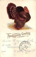 hol061853 - Thanksgiving Old Vintage Antique Postcard Post Card