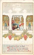 hol061854 - Thanksgiving Old Vintage Antique Postcard Post Card