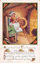 hol061860 - Thanksgiving Old Vintage Antique Postcard Post Card