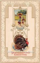 hol061865 - Thanksgiving Old Vintage Antique Postcard Post Card