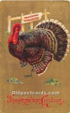 hol061869 - Thanksgiving Old Vintage Antique Postcard Post Card