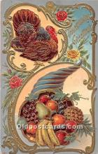 hol061874 - Thanksgiving Old Vintage Antique Postcard Post Card