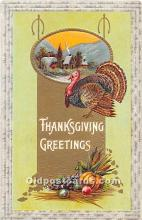 hol061880 - Thanksgiving Old Vintage Antique Postcard Post Card