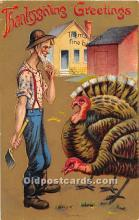 hol061884 - Thanksgiving Old Vintage Antique Postcard Post Card