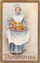 hol061885 - Thanksgiving Old Vintage Antique Postcard Post Card