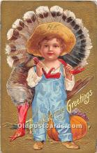 hol061886 - Thanksgiving Old Vintage Antique Postcard Post Card