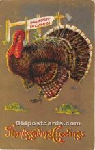 hol061892 - Thanksgiving Old Vintage Antique Postcard Post Card