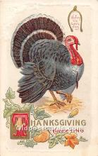 hol061896 - Thanksgiving Old Vintage Antique Postcard Post Card