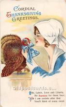 hol061900 - Thanksgiving Old Vintage Antique Postcard Post Card