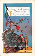 hol061906 - Thanksgiving Old Vintage Antique Postcard Post Card