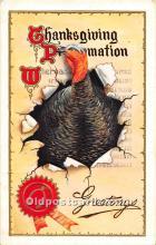 hol061907 - Thanksgiving Old Vintage Antique Postcard Post Card