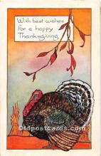 hol061917 - Thanksgiving Old Vintage Antique Postcard Post Card