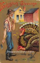 hol061920 - Thanksgiving Old Vintage Antique Postcard Post Card