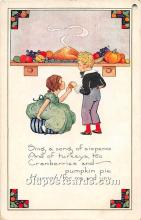 hol061925 - Thanksgiving Old Vintage Antique Postcard Post Card