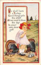 hol061926 - Thanksgiving Old Vintage Antique Postcard Post Card