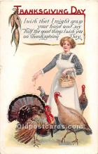 hol061930 - Thanksgiving Old Vintage Antique Postcard Post Card